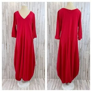 Oh My Gauze red Bella art wear dress OSFM